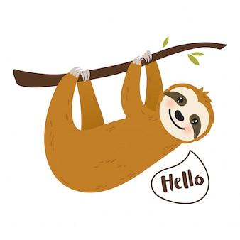 かわいい漫画slothグラフィック