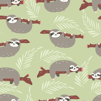 Sloths pattern design