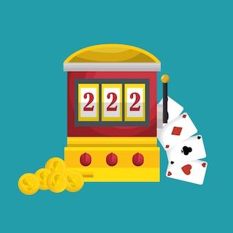 Slots machine casino icon vector illustration design