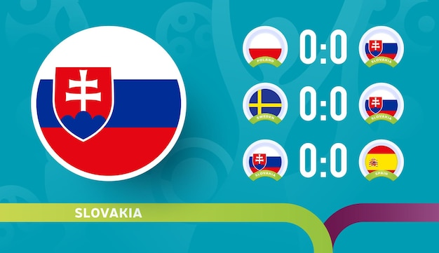 Slovakia national team schedule matches in the final stage at the 2020 football championship