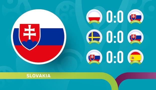2020년 축구 선수권 대회 결승전 슬로바키아 대표팀 경기 일정