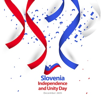 Slovenia independence and unity day vector template design
