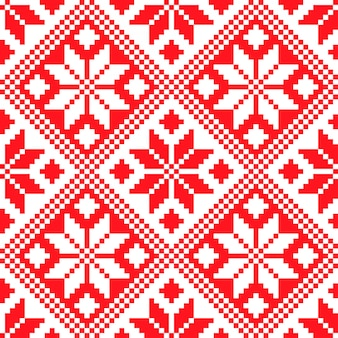 Slovenian traditional pattern ornament. seamless background