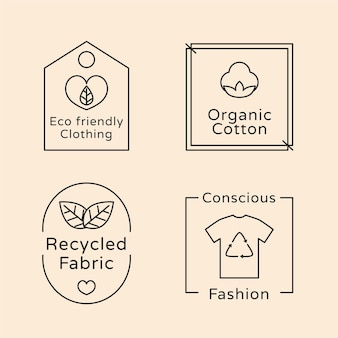 Slow fashion badge collection