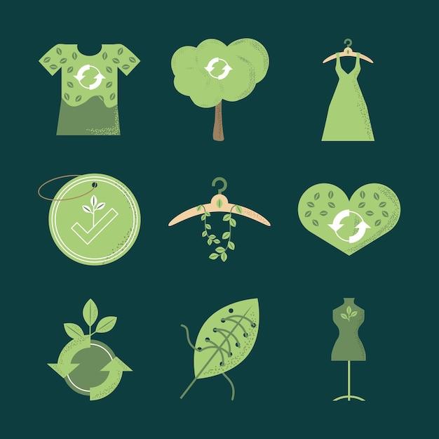 Slow fashion green set