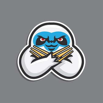 Slow loris illustration  sticker