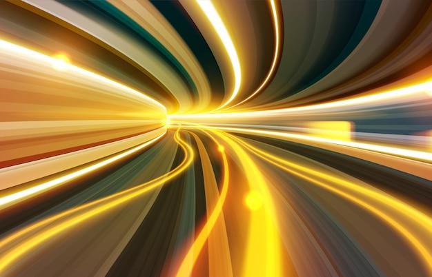 Slow shutter effect through wormhole