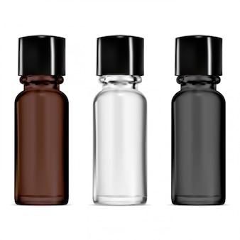 Smal glass vial, dropper bottle
