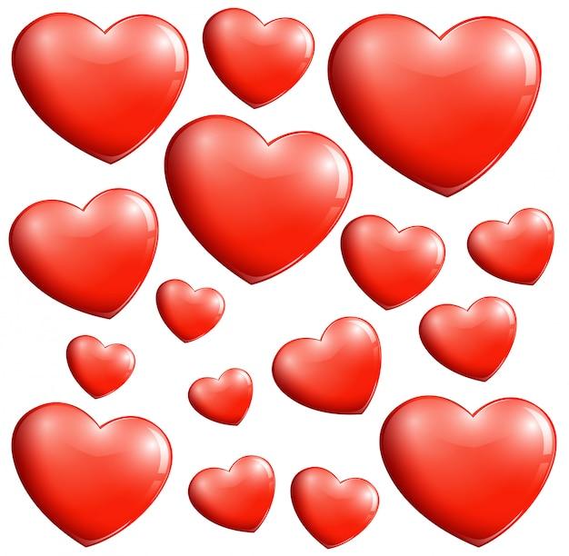 Small and big hearts