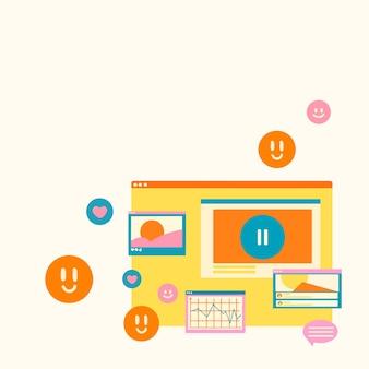 フラットなデザインの中小企業の背景ベクトル