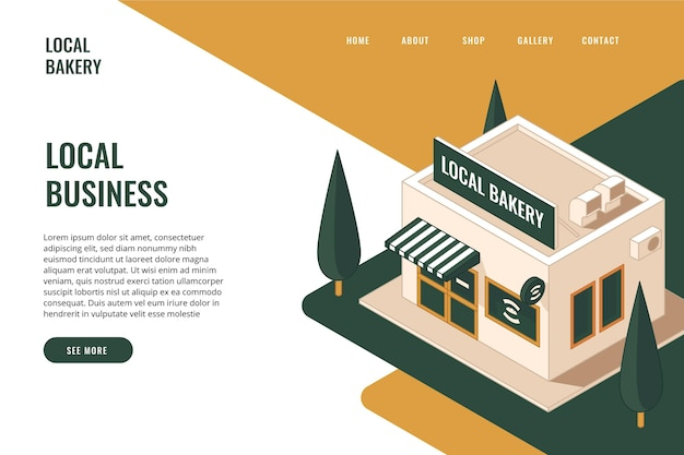 Small business landing page template