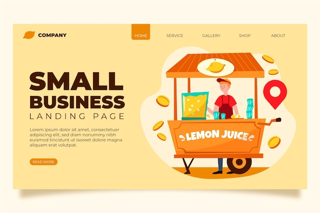Small business landing page theme