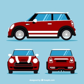 Small car in different views