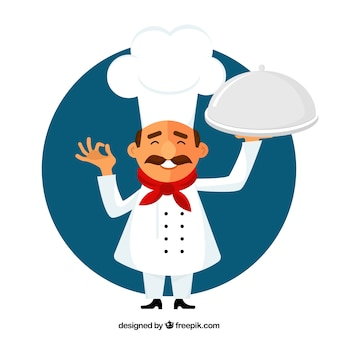 Small chef illustration