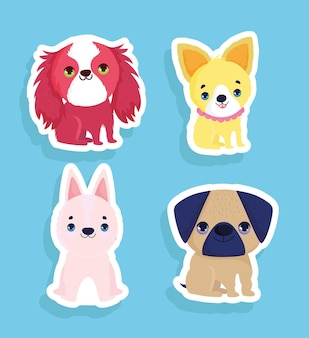Набор маленьких собак