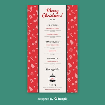 Small elements christmas menu template