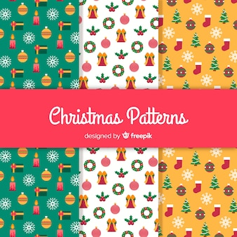 Small elements christmas pattern
