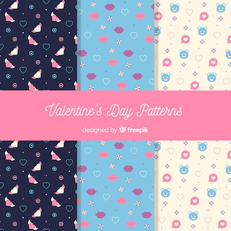 Small elements valentine patterns