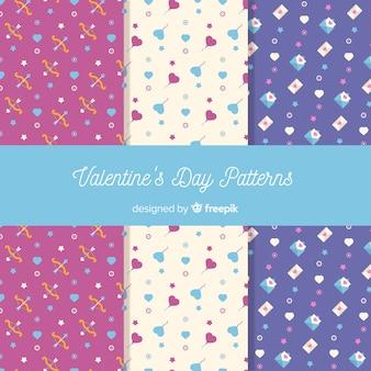 Small elements valentine patterns