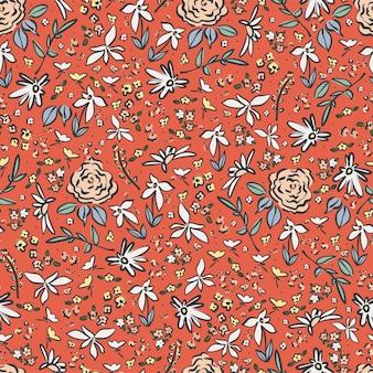 Маленький цветок иллюстрации мотив ditsy бесшовные повторяющийся узор цифровой файл узор произведения искусства