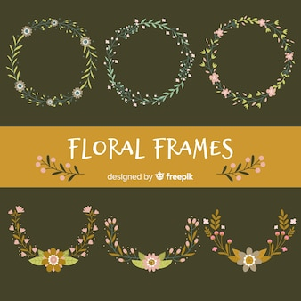 Small flowers frame