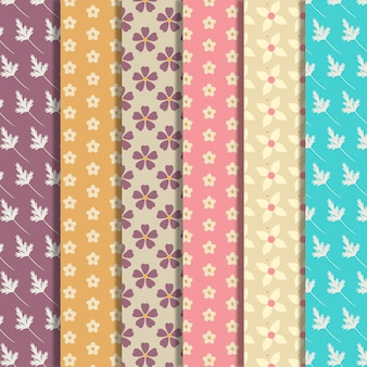 Small flowers pattern background collection