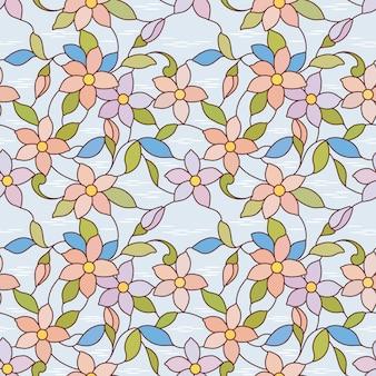 小さな花のシームレスなパターン。