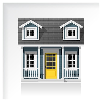 Small house icon isolated on white background