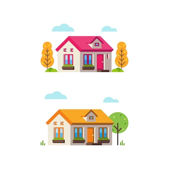Small House in Flat Style 2
