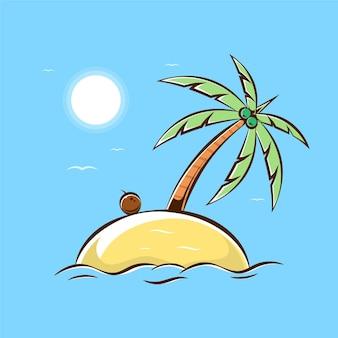 Иллюстрации шаржа маленький остров