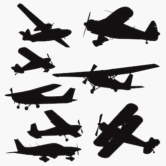 Small plane silhouettes