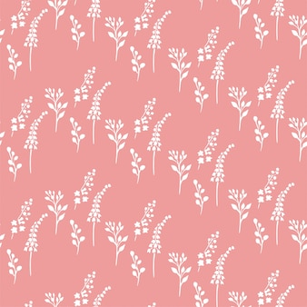 Small plants pink pattern