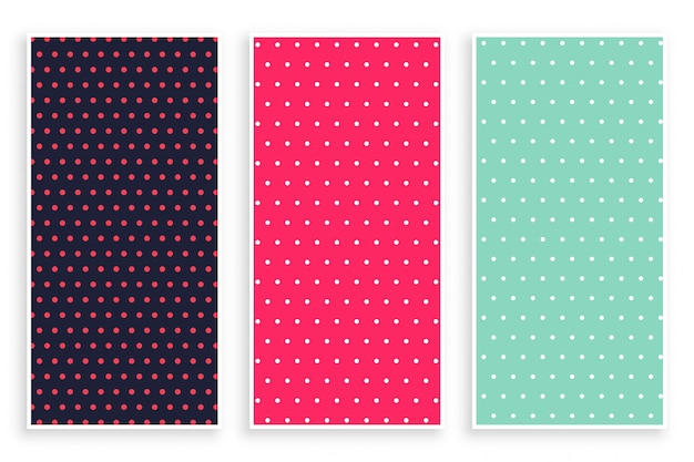 Small polka dots pattern banner