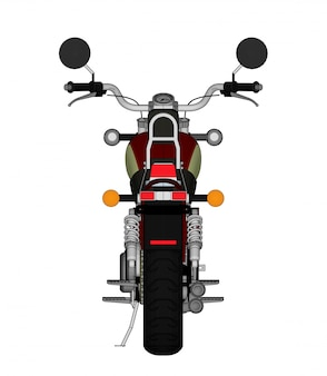Small red classic chopper look