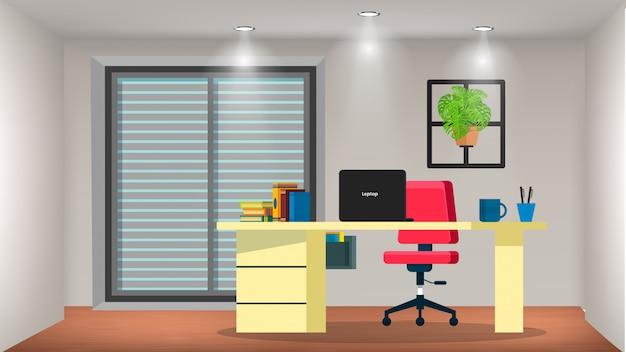作業机付きの小さな部屋