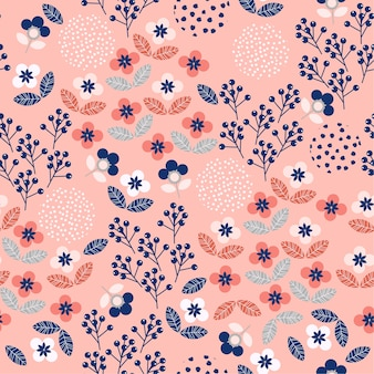 Small scale of colorful geometric floral  seamless pattern