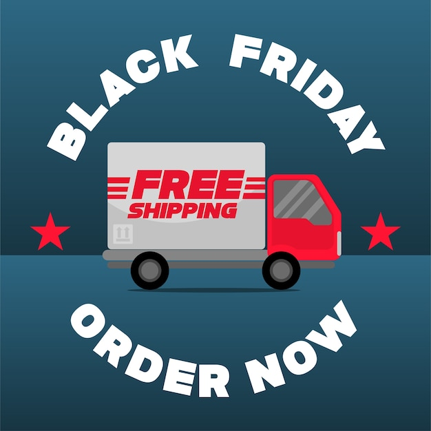 Small truck, free shipping promotion