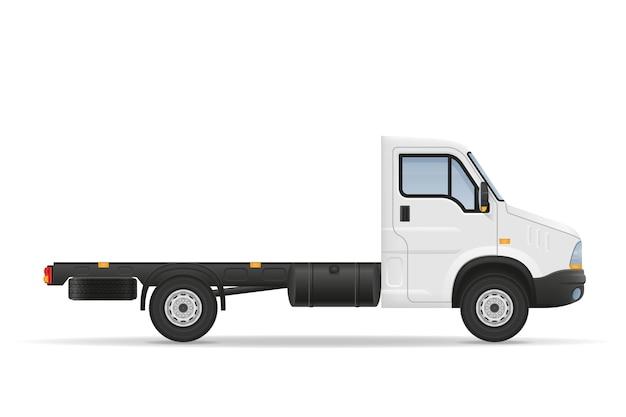 白の貨物輸送用小型トラック バンローリー