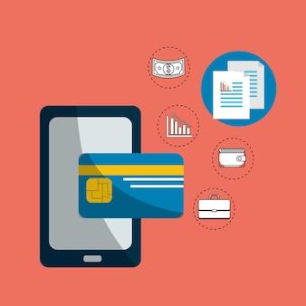 Smarphone digital security credit card