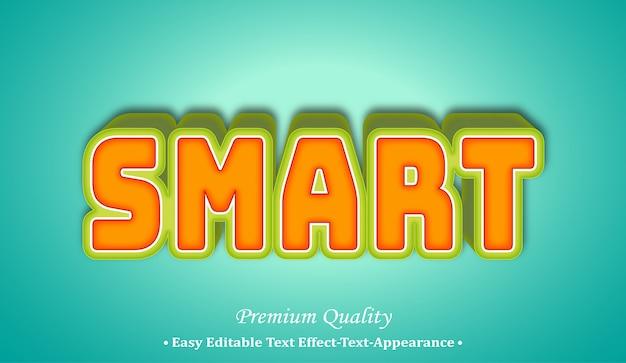 Smart 3d font style effect