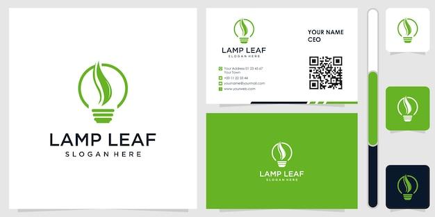 Умная лампочка логотип с вектором дизайна визитной карточки премиум