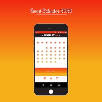 Smart calendar app ui/ux