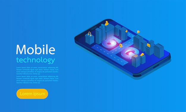 Smart city 5g landing page