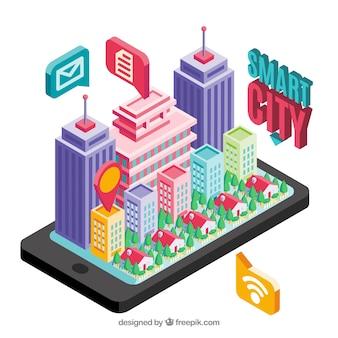 Smart city background