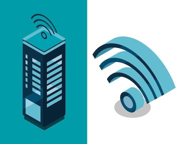 スマートシティビルディング接続wifi