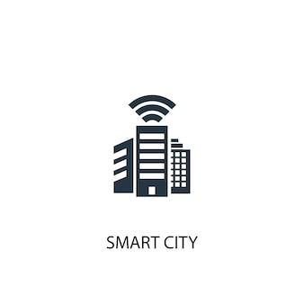 スマートシティのアイコン。シンプルな要素のイラスト。スマートシティコンセプトシンボルデザイン。 webおよびモバイルに使用できます。