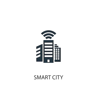Smart city icon. simple element illustration. smart city concept symbol design. can be used for web and mobile.