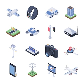 Smart city icons pack