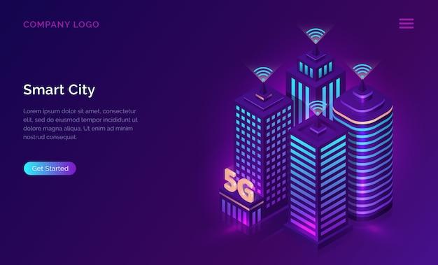 スマートシティのランディングページ
