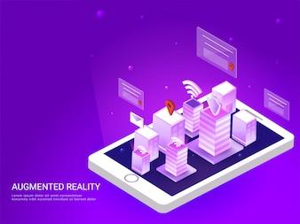 スマートフォン画面のスマートシティビュー。